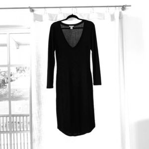 Bar III black midi dress